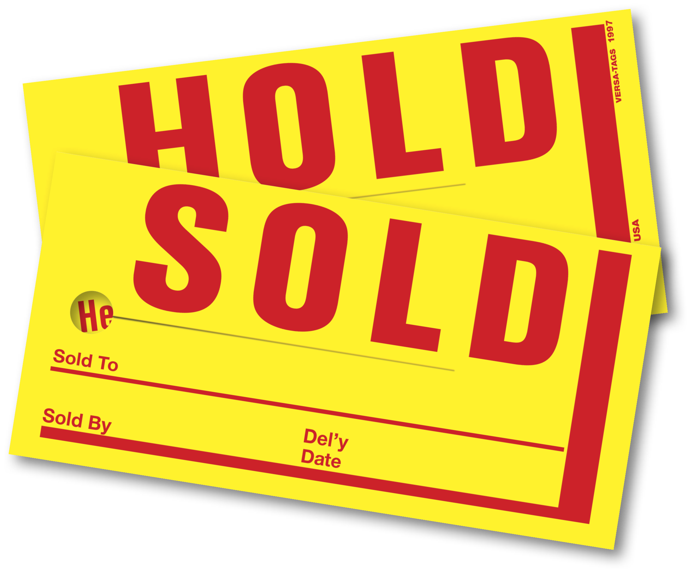 SOLD HOLD TAGS (4 in. x 8 in.)