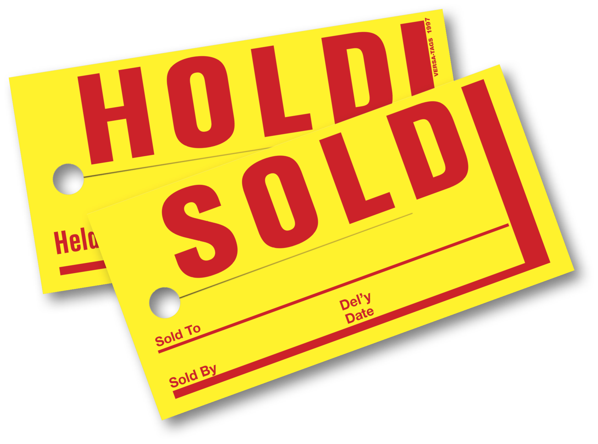 SOLD HOLD TAGS (2.6 in. x 4.1 in.)