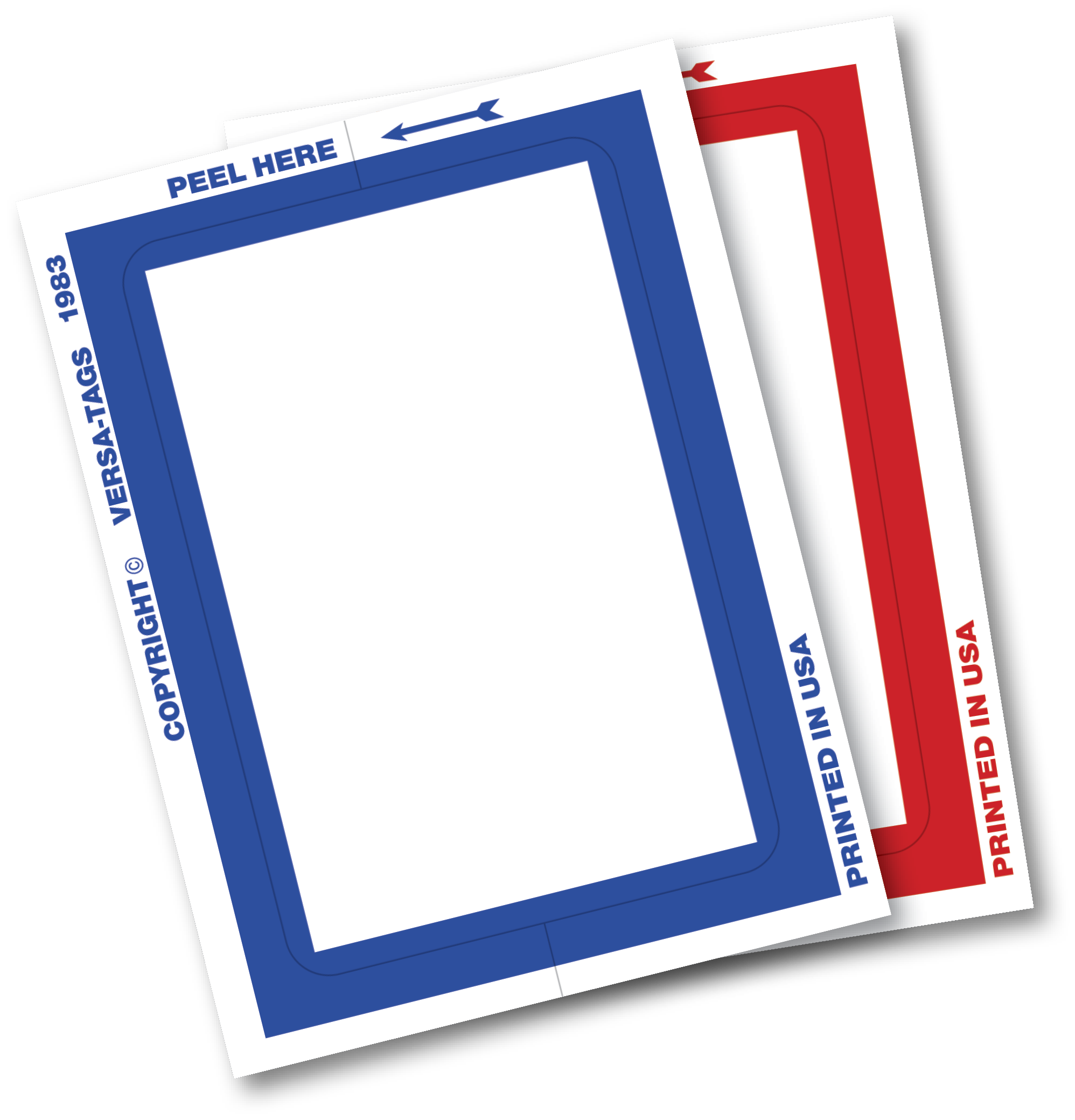 KLEER-BAK BORDER AND BLANK STICKERS