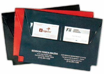 EXPANDABLE VINYL DOCUMENT CASES WITH VELCRO CLOSURE