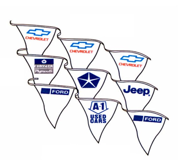 AUTHORIZED DEALER MASS PENNANTS