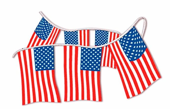 AMERICAN FLAG PENNANTS - CLOTH