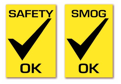 SAFETY/ SMOG OK STICKERS