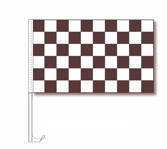 CHECKERED WINDOW CLIP FLAG