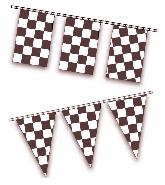 BLACK & WHITE CHECKERED PENNANTS