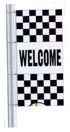 DEALER CHECKERED DRAPE FLAGS