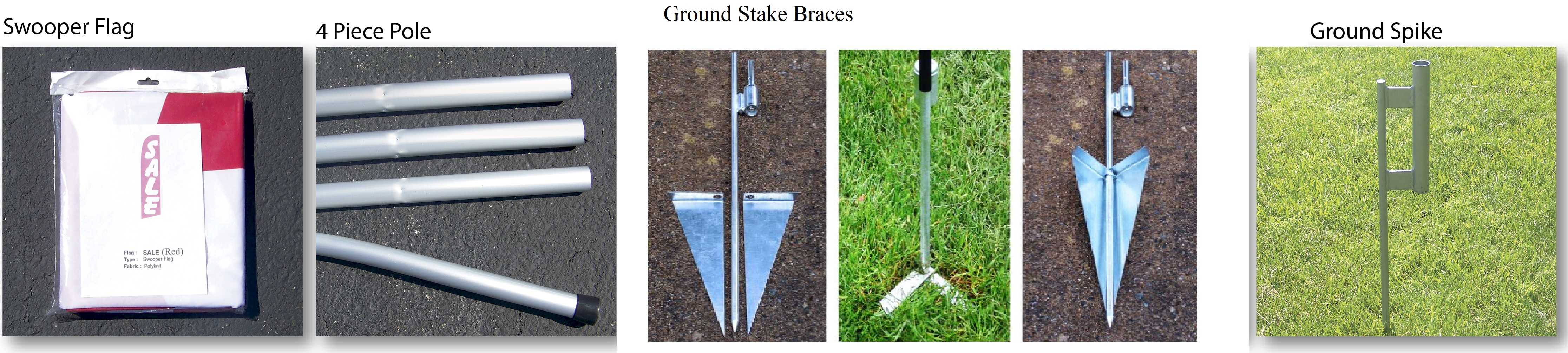 SWOOPER FLAG KIT W/ GROUND STAKE BRACES
