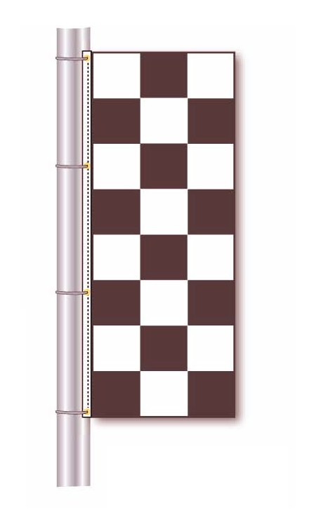 RACE TRACK CHECKERED FLAG - 3 X 8