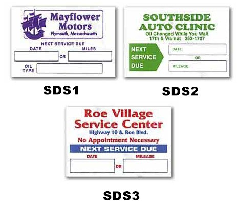 SERVICE DUE STICKERS - 2 COLOR