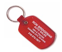 SOFT PLASTIC KEY TAGS - SQUARE OVAL (TAG COLOR + 1 IMPRINT COLOR)