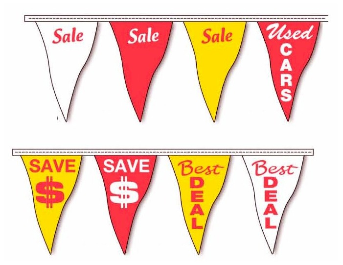 STOCK SLOGAN PENNANTS