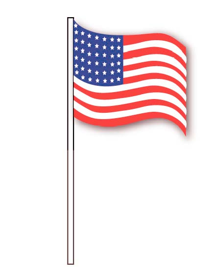 U.S. FLAG ANTENNA PENNANTS (PLASTIC)