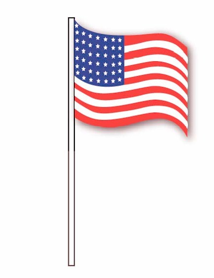 U.S. FLAG ANTENNA PENNANTS (CLOTH)